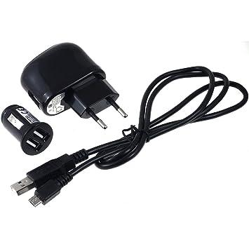 Powery Cargador USB 2,1A + Adaptador de Carga para Coche y ...