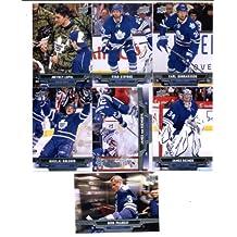 2013-14 Upper Deck NHL Hockey Toronto Maple Leafs Series 1 Veterans Team Set -7 Cards Including: Carl Gunnarsson Dion Phaneuf Ryan O'Byrne Joffrey Lupul James Reimer James van Riemsdyk Nikolai Kulemin