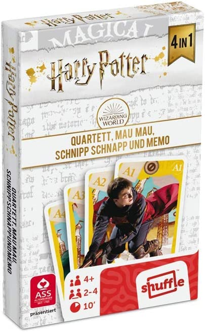 ASS 22584064 Harry Potter - Juego de Mesa 4 en 1 (cuarteto, MAU ...