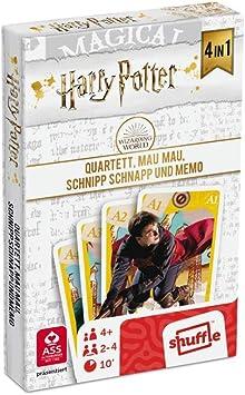 ASS 22584064 Harry Potter - Juego de Mesa 4 en 1 (cuarteto, MAU MAU, Snap Explosivo y Memoria): Amazon.es: Juguetes y juegos