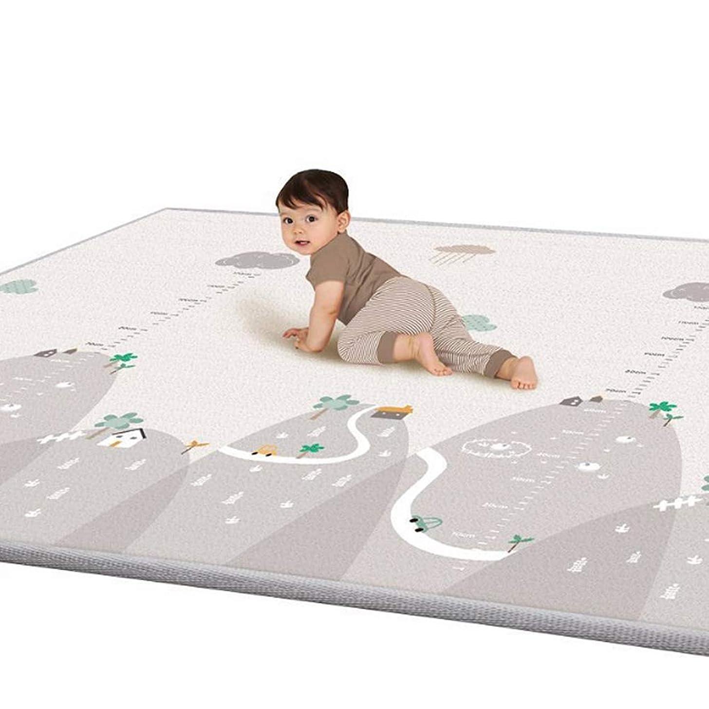 細胞宣言するマルコポーロSemy Kids ベビープレーマット 衝撃緩和 (L)197×155×1cm 新乳児から対象 ベビーマット (ライオン001)