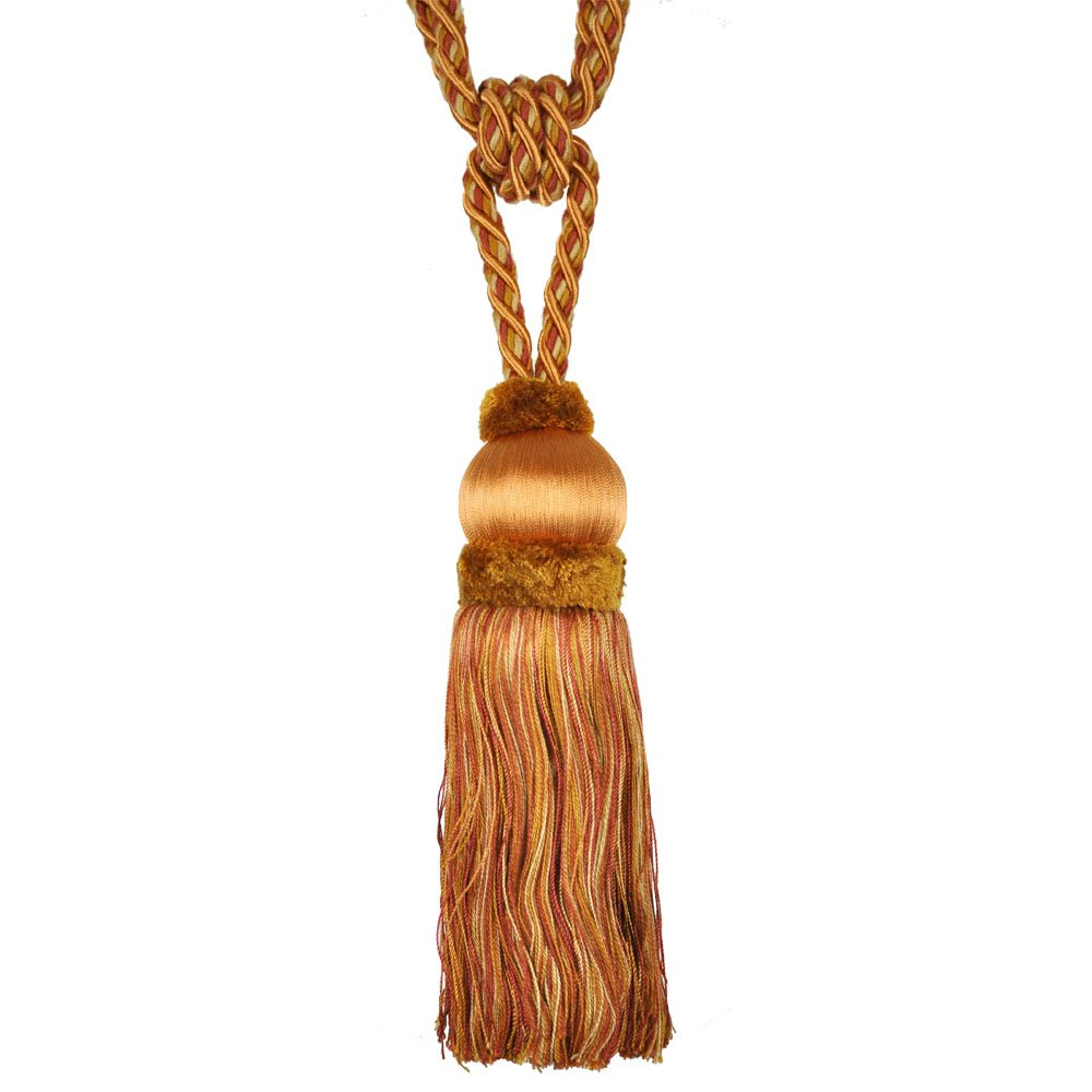 Single Tassel Tieback with 8-Inch Tassel and 32-Inch Spread, Burnt Orange by Single Tassel Tieback