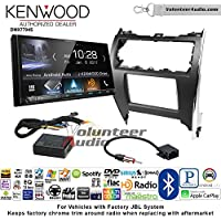 Volunteer Audio Kenwood DMX7704S Double Din Radio Install Kit with Apple CarPlay Android Auto Bluetooth Fits 2012-2013 Toyota Camry with Amplified System