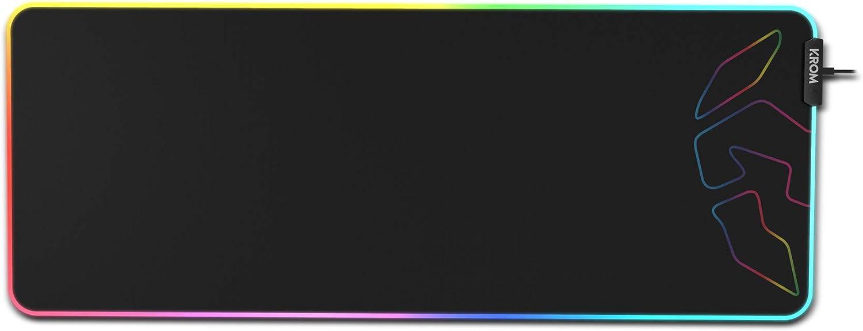 Krom Knout XL RGB, NXKROMKNTXLRGB, Alfombrilla Gaming XL, RGB, Color Negro