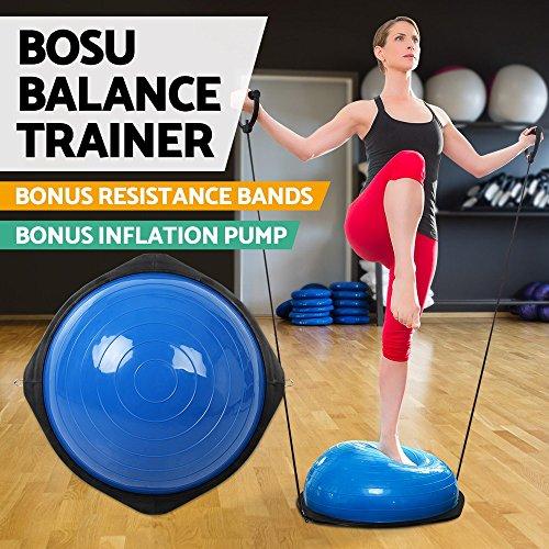 Bosu Ball Air Pump: Bosu Balance Ball Yoga Fitness Training Exercise Gym Home