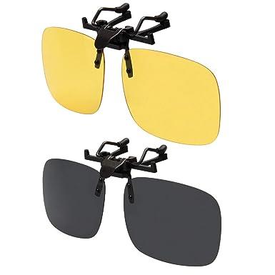 LianSan Men Mirrored Lens Rectángulo Clip en Gafas de Sol Polarizadas Mujeres Deporte al Aire Libre Flip Up Driving Sunglasses
