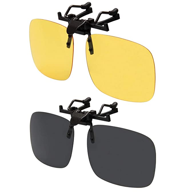 d86cf15bb0f3 LianSan Women Mirrored Lens Rectangle Clip on Sunglasses Polarized Men  Outdoor Sport Flip up Driving Sunglasses