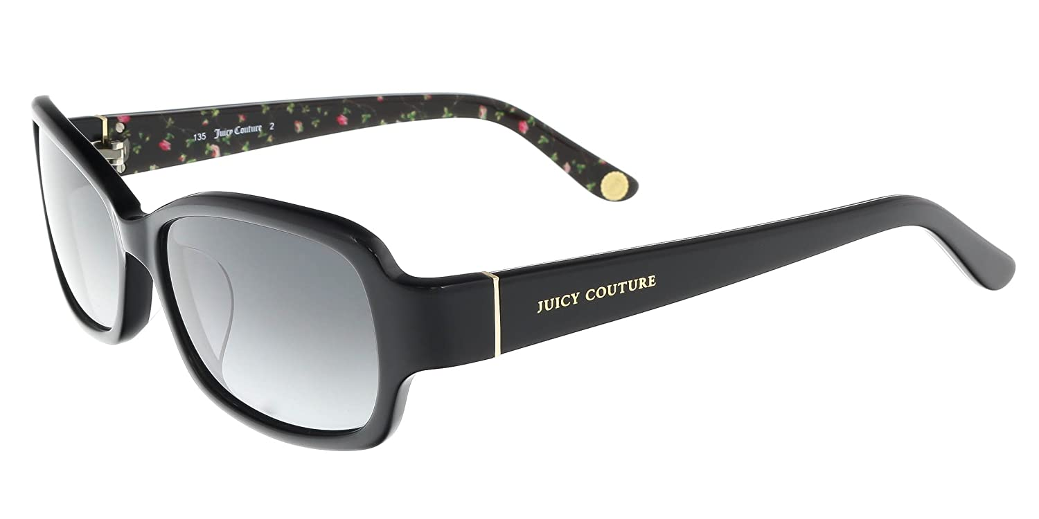 aae29b0a5d Amazon.com  JUICY COUTURE Sunglasses 555 F S 0807 Black Floral 55MM   Clothing