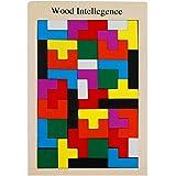 NUOLUX Jeux de Puzzle en bois jouets Puzzle cerveau taquine Burr bois puzzle Tangram jeux jouets éducatifs