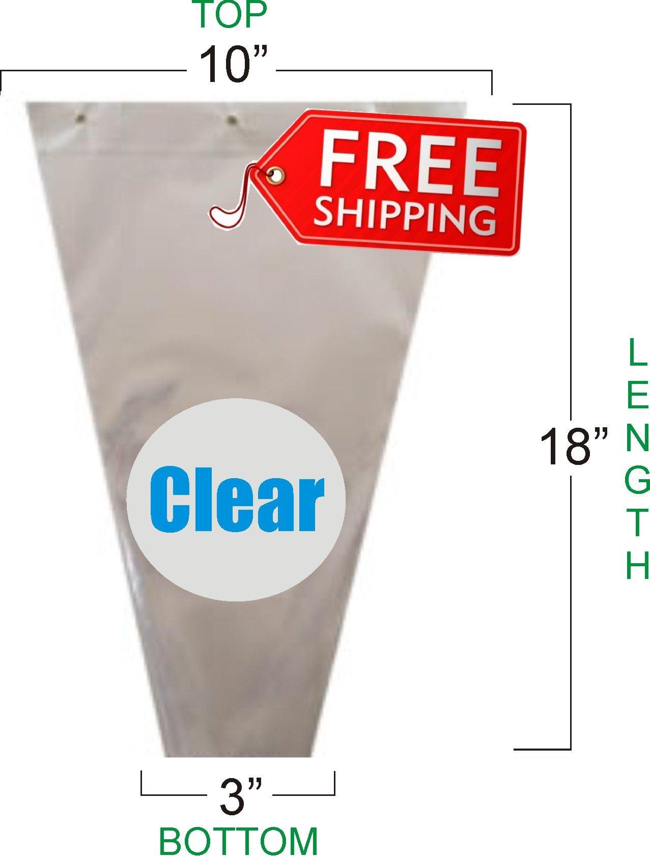 Flower Bouquet Unprinted 37 Micron Clear Plastic Sleeve Bag 50 Pcs 10x18x3