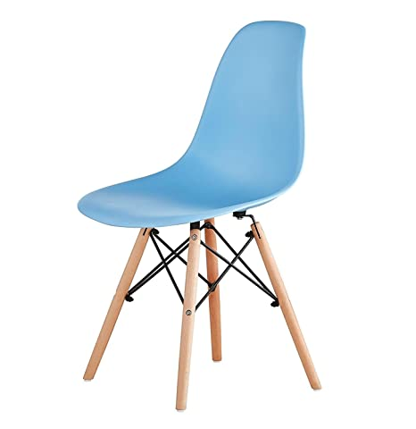 Gelb, 1 ZOLTA Modern Stuhl Retro-Stil Eiffel Kunststoff Stuhl Esszimmer B/üro Skandinavisch Design K/üchenst/ühle