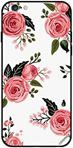 Case For iPhone 6 Plus - Pink Roses With Dark Green Leaves