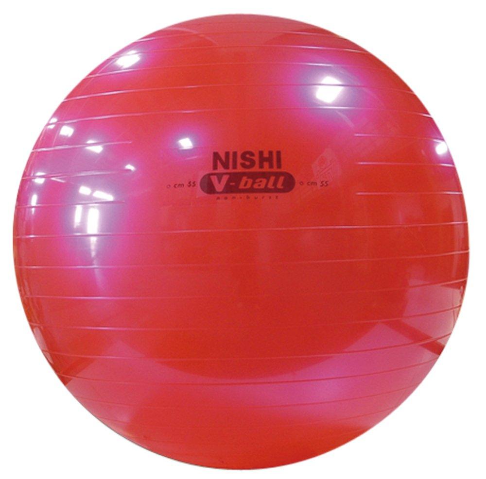 【全商品オープニング価格 特別価格】 NISHI(ニシスポーツ) バランスボール ノンバーストVボール B00GD9HA5U   直径:55cm(メタリックピンク), 土成町:3882e2fd --- arianechie.dominiotemporario.com