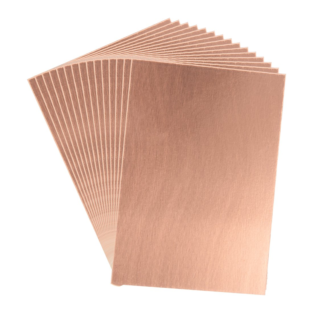 uxcell 7X10cm Single Sided Copper Clad Laminate PCB Circuit Board Brown 10pcs a18042700ux0132