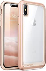 SUPCASE iPhone X, iPhone XS Case, [Unicorn Beetle Style] Premium Hybrid Protective Clear Case for Apple iPhone X 2017/ iPhone XS 2018 Release (BlushGold)