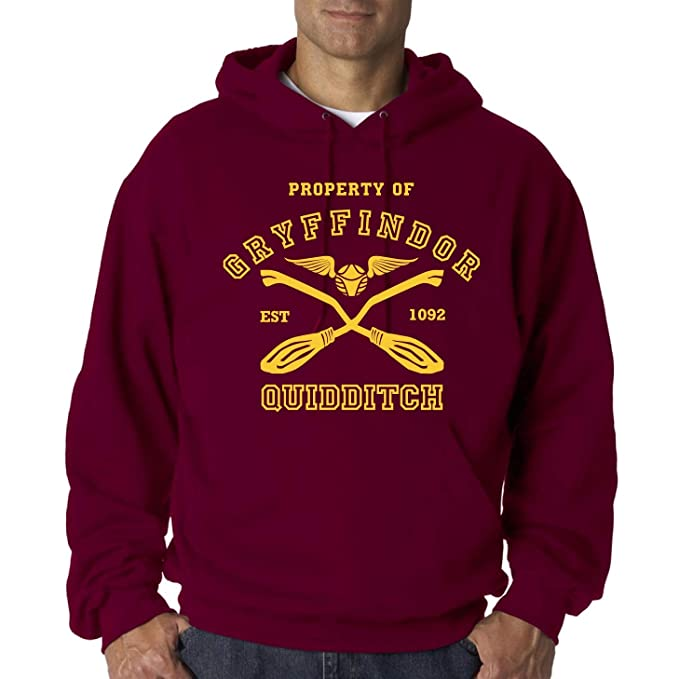 Property of Gryffindor Harry Potter Quidditch - Sudadera Burgundy Hombre Capucha (S)