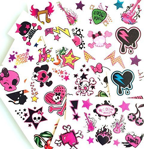 Temporary Tattoos Pretty'n Punk 50 Temporary sweet Once tattoos for girls by LK Trend & - Trend Punk