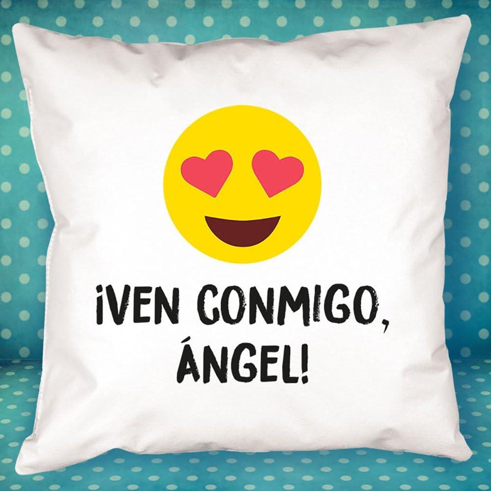 Calledelregalo Un Regalo Personalizado para Parejas Muy Especial coj/ín Personalizado para Enamorados con el Texto Que t/ú Quieras