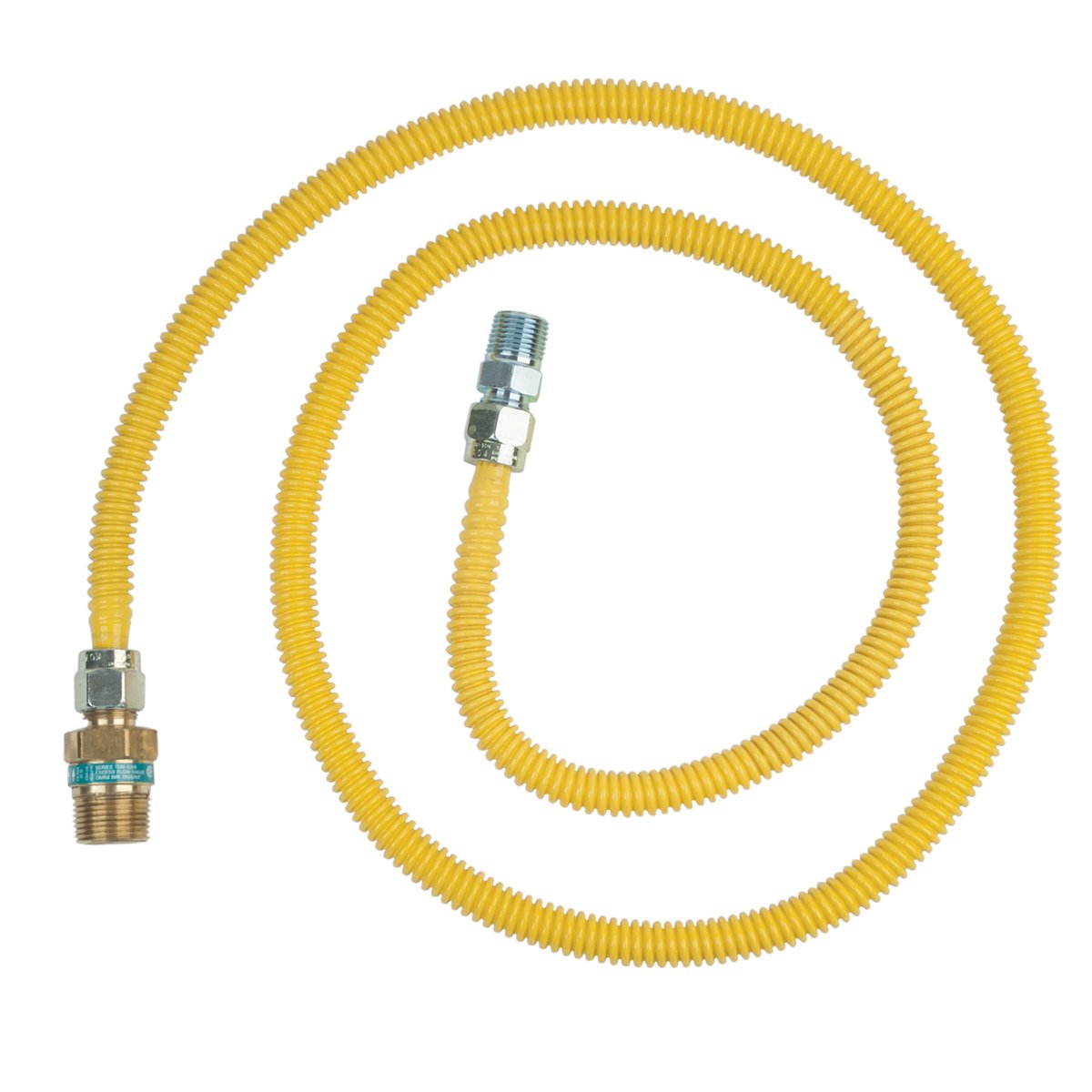 BrassCraft CSSD104R-72 x Safety Plus Gas 1/2'' Od Connector With 1/2'' Female Flare Efv x 1/2'' Mip x 72''