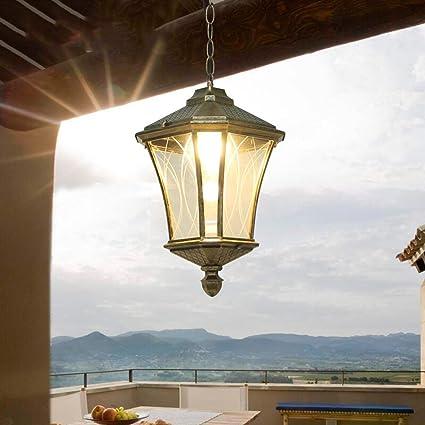 Lámparas de techo de techo de exterior tradicional 1 × E27 ...