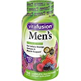 Vitafusion Men's Complete Multivitamin Gummies Natural Berry Flavors - 150 ct, Pack of 4