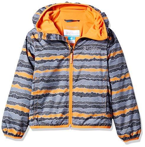 Solar Stripe - Columbia Kids' Big Pixel Grabber Ii Wind Jacket, Solar Stripe, M