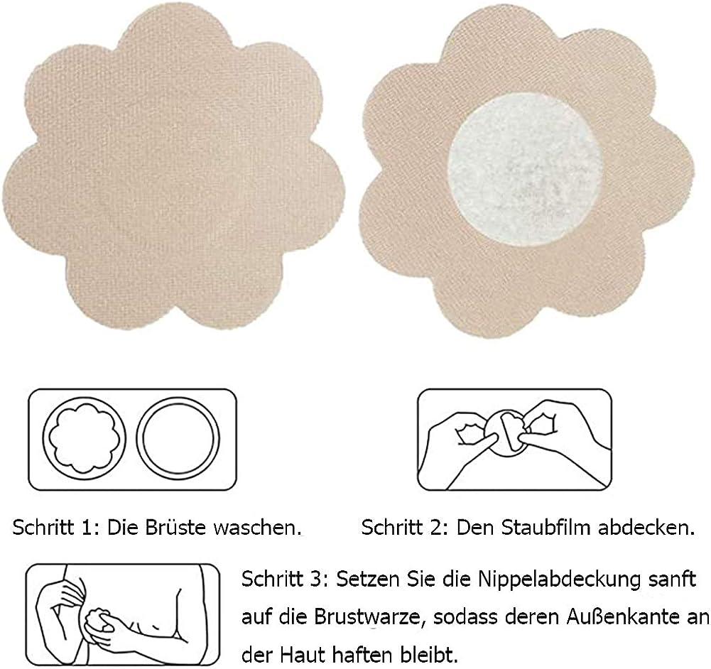 copricapezzoli invisibili da donna rotondi e fiori 12 pezzi impermeabili VicSec adesivi per capezzoli riutilizzabili