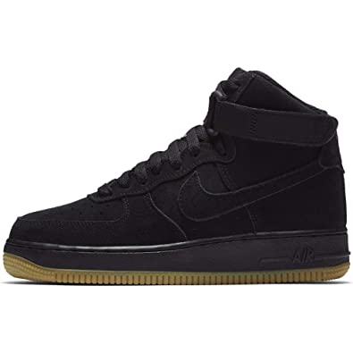 release date c2e0e 1d3aa Nike Men s Air Force 1 High Lv8 (gs) Fitness Shoes, Black-Gum