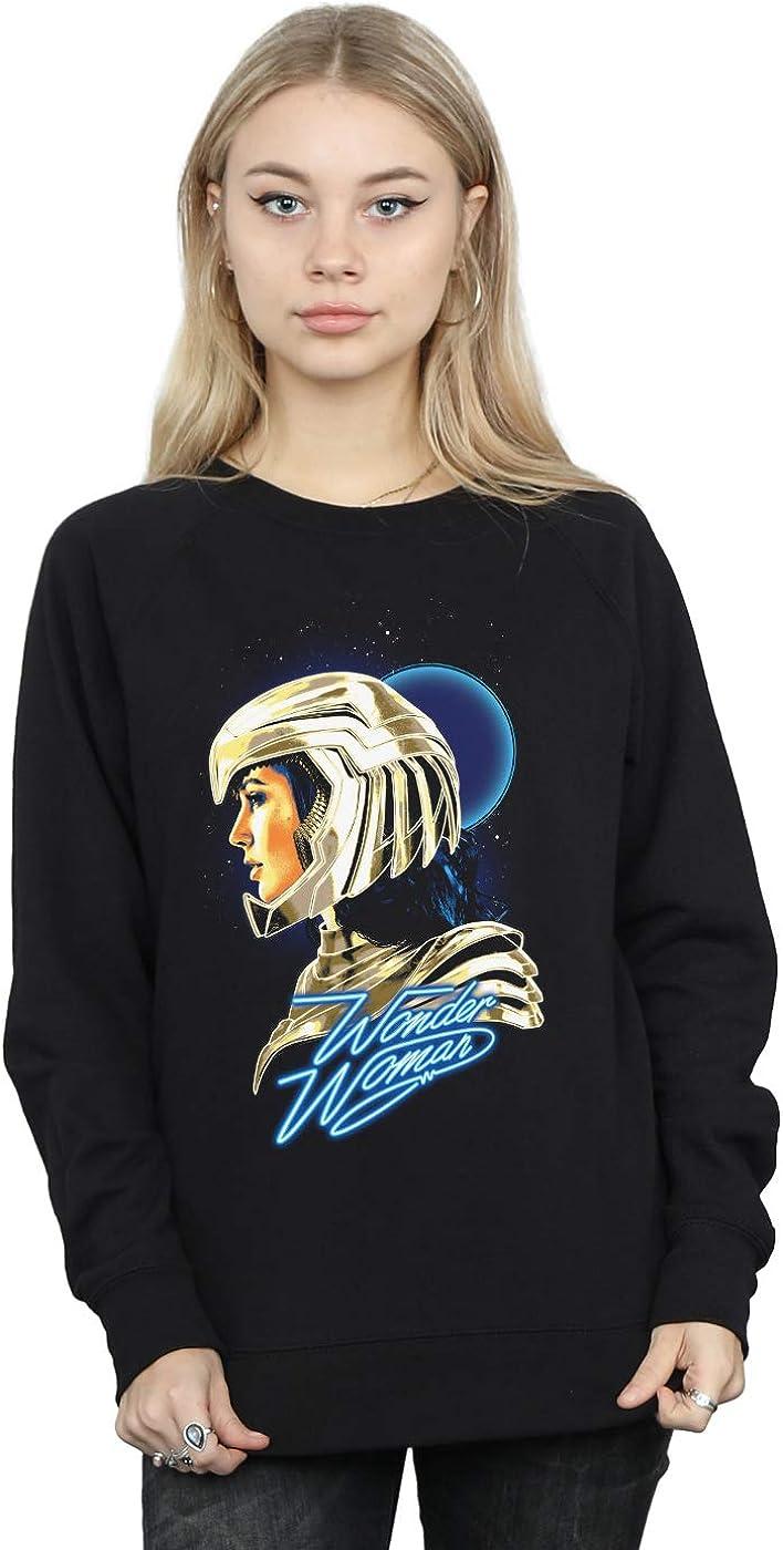 DC Comics Womens Wonder Woman 84 Retro Gold Helmet Sweatshirt
