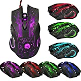 Coromose 6 Button 5500 DPI LED Optical USB Wired Gaming PRO Mouse Mice For PC Laptop