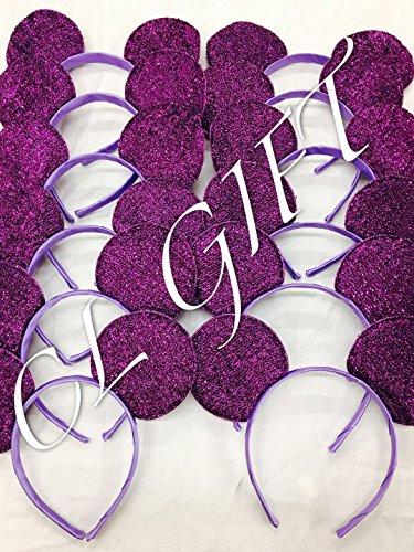 Set of 12 - Purple sequin Mickey Mouse Ears,Ariel /Little mermaid Ears , DIY Mickey Ears, Minnie Ears, Minnie Mouse Ears, DIY mickey -