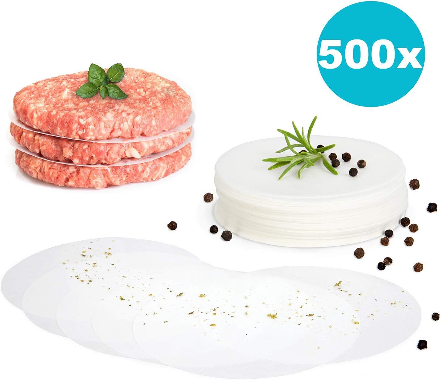 gourmeo Premium hamburguesas + 500 hojas de papel antiadherente ...