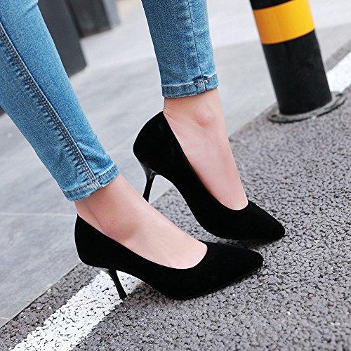 Carolbar Womens Pointed Toe Sexy High Heels Stilettos Pumps Shoes Black 8deNVX