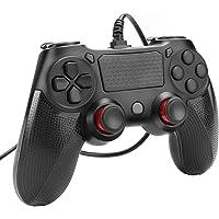 Powcan PS4-kontroll trådbunden styrenhet för Playstation 4 dubbel vibration chock joystick gamepad för PS4/PS4 Slim/PS4…