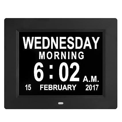 Amazon Com Updated Version Led Large Clock Digital Wall Calendar