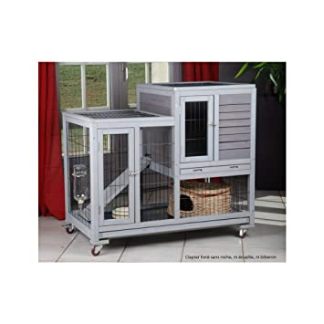 Cage lapin interieur bois - Maison mobilier et design a158b44622b9