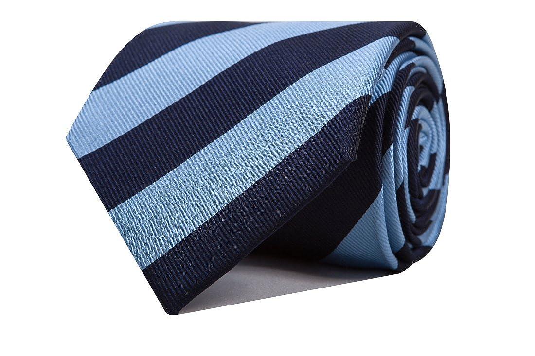 SoloGemelos - Corbata Azul Con Rayas - Celeste - Hombres - Talla ...