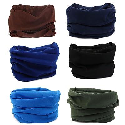 Kingree 9PCS Outdoor Headscarves for ATV/UTV riding, Seamless Bandanas Tube, High Elastic Headband with UV Resistance, Womens and Mens Headband Headwear Headwrap