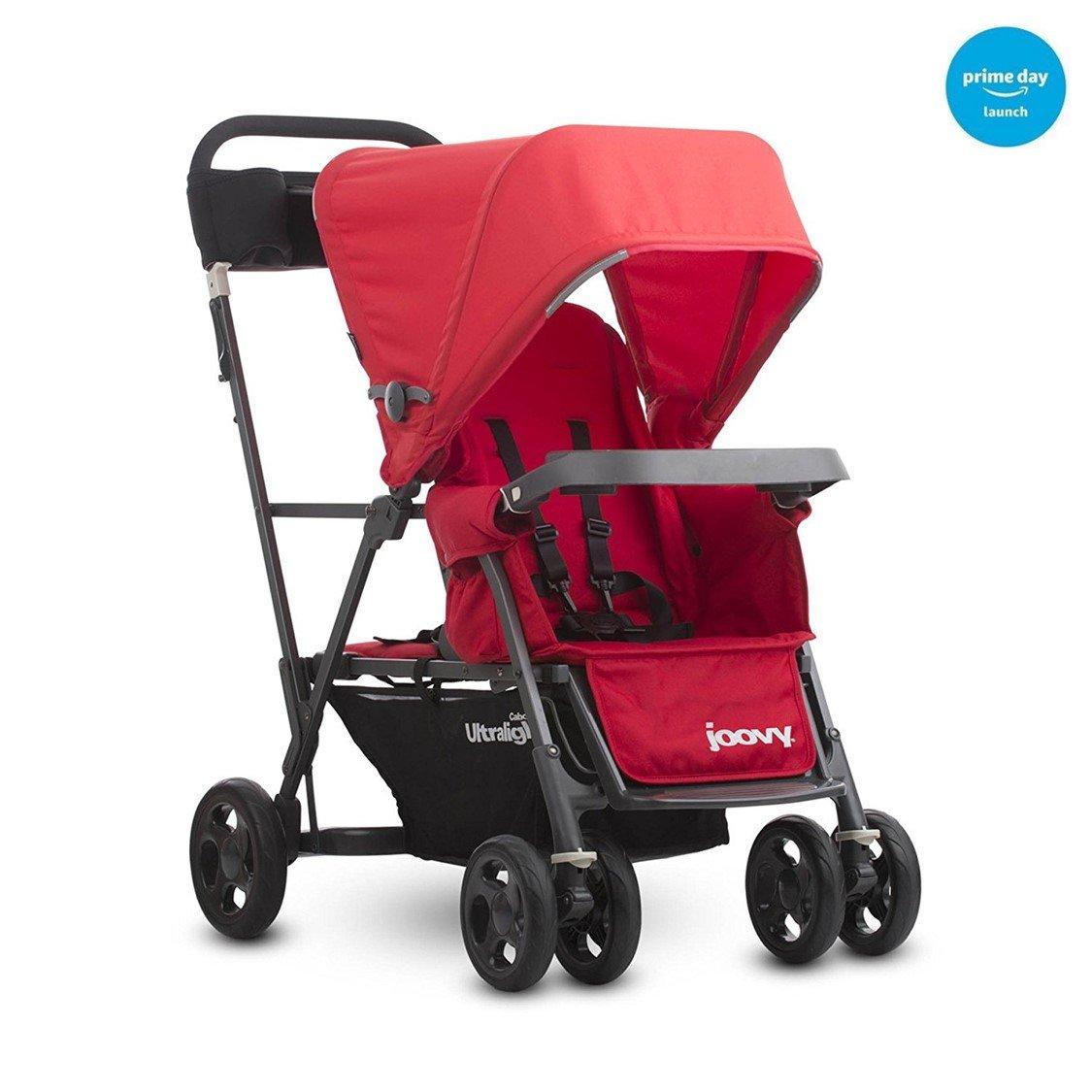 Joovy Caboose Ultralight Graphite Stroller, Red