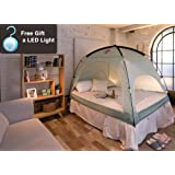 privacy pop bed tent twin xl black toys games. Black Bedroom Furniture Sets. Home Design Ideas