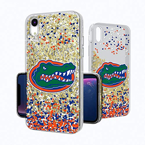 Keyscaper KGLGXR-0FLA-FETTI1 Florida Gators iPhone XR Glitter Case with UF Confetti Design (Florida Gators Glitter)