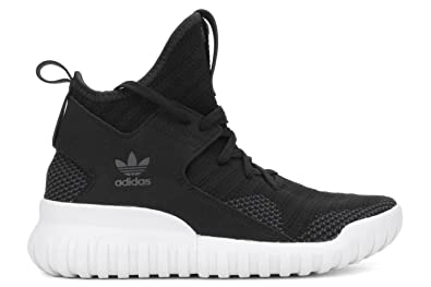 S76038 GRADE SCHOOL TUBULAR X PK J ADIDAS BLACK / GREY