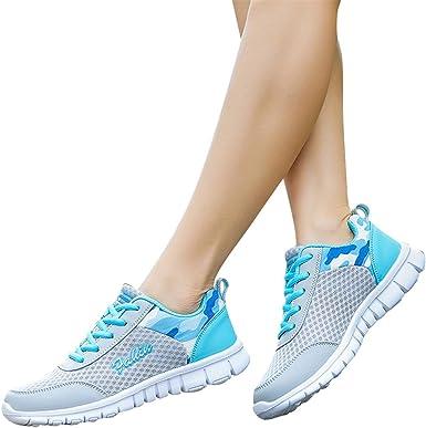 Memefood Zapatillas Deportivas De Mujer, Zapatos Deporte Casual Sneakers Con Plataforma Running Yoga Calzado De Cordones De Exterior Para Correr En Asfalto Fitness Gimnasia 34EU-41EU: Amazon.es: Ropa y accesorios