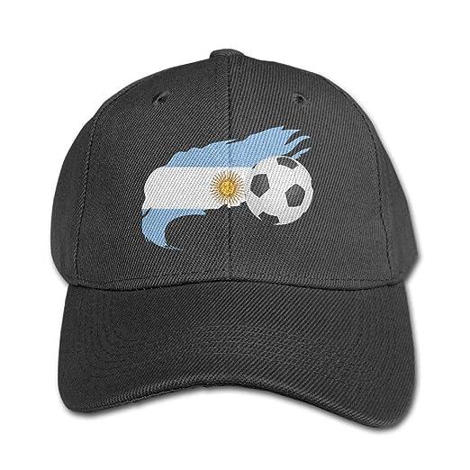 1016139f752 Soccer Ball with Argentina Flag Kids Adjustable Snapback Curved Visor  Baseball Caps Toddler Custom Hat