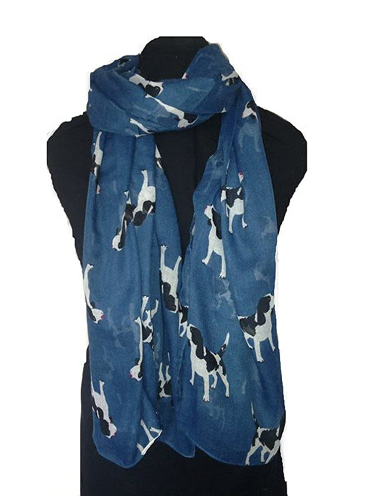 VIGVOG Ladies Dog Puppy Pattern Gauze Shawl Scarves Pashmina World of Shawls Ltd Scarf-007