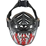 Dog Muzzle WEREWOLF Unique Design with Adjustable Metal Buckle and Unti-biting & Chewing for Small Medium and Large Dogs-Smile & Sharp