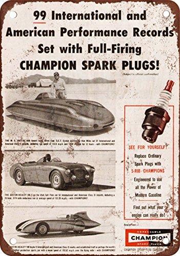 1955 Champion bujías aspecto Vintage reproducción Metal Tin Sign 7 X 10 pulgadas: Amazon.es: Hogar