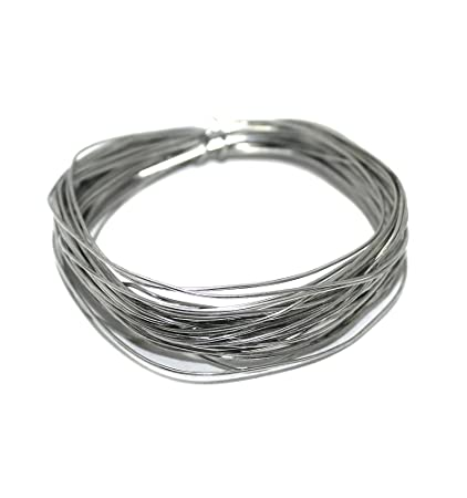 Beadsnfashion Silver Plated Brass Craft Wire for Jewellery Making, Beading Wire, Craft Work, Flower Making, Hobby Crafts and School Crafts Project 15 Mtrs, 24 Gauge Wire Thick (0.55 mm)