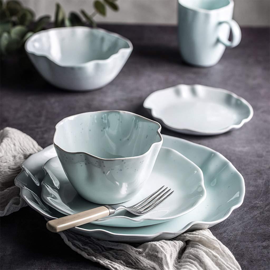 Placa Desayuno Ensalada de cerámica Vajilla Plato de Arroz de Hoja ...