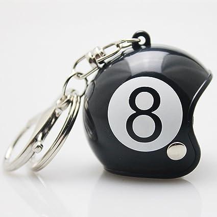 Amazon.com : Luerme Keychain Motorcycle Safety Helmet Key ...